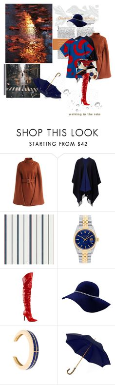 """lacuna (n.)"" by la-rosy ❤ liked on Polyvore featuring Chicwish, Rolex, Pleaser, Pamela Love, London Undercover, Fall, outfit, rainyday and fall2017"