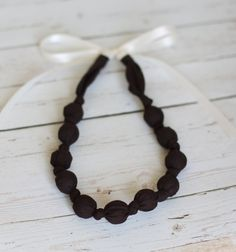 Breastfeeding Necklace - Dark Chocolate Brown