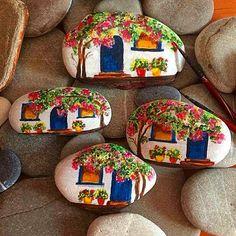 Taşboyama, stonepaintings , mystonepaintings, paintedstone, Bodrumevleri,