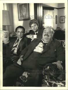 1987 Press Photo Jake and the Fatman - William Conrad, Joe Penny, Alan Campbell. Pinned by Judi Crowe.