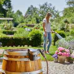 Flexible and powerful: With our new Rain Water Tank Pump rainwater can be used from the barrel free of charge! 💦 Step up your gardening game with the perfect pump for your needs! Save Water Poster Drawing, Smart Garden, Water Tank, Irrigation, Gardening Tips, Garden Tools, Barrel, Outdoors, Pumps