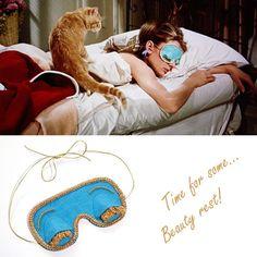 tapa olho audrey hepburn, rest time, mask, máscara para olhos, bonequinha de luxo
