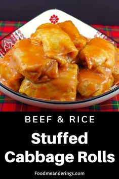 These Gluten-free Stuffed Cabbage rolls (holubsti) are made Scottish-style with ground beef rice mushrooms and a tomato soup sauce. Slow Cooker Recipes, Beef Recipes, Cooking Recipes, Healthy Recipes, Healthy Food, Easter Recipes, Holiday Recipes, Dinner Recipes, Dessert Recipes