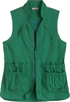 Women's Summerweight Utility Vest from Duluth Trading Company has seven storage pockets, so it holds whatever you can't when you're working. Has a ventilating mesh back panel too, plus a loop for your gloves. No other vest works harder.