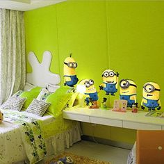 DESPICABLE ME 2 wall stickers Vinyl Art decals room kid decor MINIONS Removable. CHAWANUT http://www.amazon.co.uk/dp/B00H7MMURU/ref=cm_sw_r_pi_dp_mNfhvb1DBFNDV