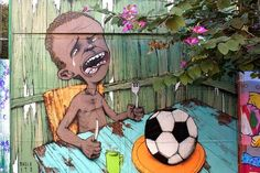 #Graffitismo: #critica, #vandalismo o.. #Brasile #2014 #MondialediCalcio #Google #StreetArtProject #Protesta  Tutto il post su #GlobArts: http://glob-arts.blogspot.it/2014/06/graffitismo-critica-vandalismo-street-art-mondiali-Brasile-Banksy-Basquiat-Haring-Pisa.html #Chenepensate?