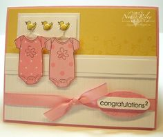 Adorable card for twins! Love the exponent on the congrats, too!  Courtesy of i STAMP by Nancy Riley  (Feb'13)