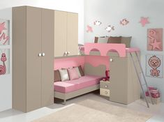 Modern Kids Bunk Bedroom Corner Composition VV G027 - $3,245.00