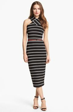 Ted Baker London Crisscross Stretch Midi Dress available at #Nordstrom
