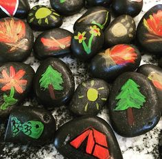 Story Rocks!  A great way to tie in the oral stories of the First Nations.
