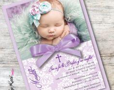 vintage victorian pink peach baptism invitations di 824 custom