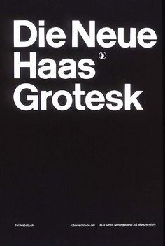 "'After WWII, Swiss Haas Type Foundry commissioned Max Miedinger to refine their ""Akzidenz Grotesk"" fonts and market them as ""Neue Haas Grotesk"". {We now} know this as Helvetica.' From History Graphic Design 20 Style International, International Typographic Style, Typography Poster, Graphic Design Typography, Graphic Posters, Book Design, Cover Design, Armin Hofmann, Swiss Style"