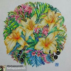 Instagram media desenhoscolorir - Essas flores estão demais! @Regrann from @behappyann65 #コロリアージュ #大人の塗り絵 #おとなの塗り絵 #塗り絵 #カラーリングブック #色鉛筆 #ホルベイン色鉛筆 #レイラデュリー #世界一美しい花のぬり絵book #coloriage #coloringbookforadults #colourpencil #colorful #coloringbook #mandala #colouring #adultcolouringbook #adultcoloring #adultcoloringbook #coloringforadults #leiladuly #flowers