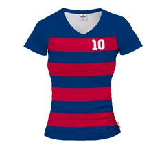 LIGA BARCELONA 2015/16 HOME Football Women's Jersey With Custom Name And Number