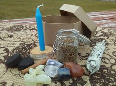 SALE SALE SALE Blue chime candle Kit comes with a chime candle about 4 inches long, with a blend of my handmade loose incense of Rosemary, mugwort, and some other special elements. Three charcoal disks and the small jar of incense come altogether here. This is a great candle to use to enhance and call in your psychic ability, and higher wisdom. When you need me I will be there for you with my services, hand created and infused products, Magick supply items, or in depth readings. I am truly…