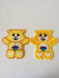 Care Bears hama perler beads by Louise Nielsen