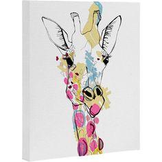 Giraffe Color Canvas Print
