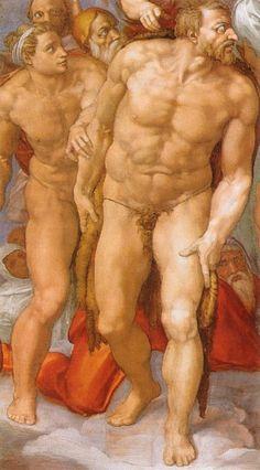 Resultado de imagen de Michelangelo San Pietro nudo Gesù Sistina