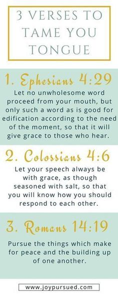 Think before you speak -bible verses