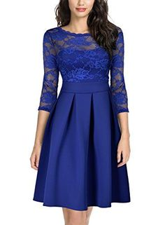 Women's Vintage Floral Lace Sleeve Bridesmaid Party Dress Miusol Women Vintage Floral Lace 2 3 Sleeve Cocktail Party Dress. Lace Bridesmaids, Bridesmaid Dresses, Very Short Dress, Cosplay Dress, Panel Dress, Plus Size Maxi Dresses, Long Dresses, Women's Dresses, The Dress