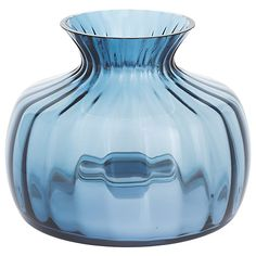 Buy Dartington Crystal Cushion Medium Posy Vase, Ink Blue Online at johnlewis.com