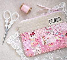 @ pretty by hand - patchwork zippered pouch -pattern is in Sweetly Stitched Handmades by nanaCompany Life is fun when you have a very talented friend who writes a sewing book. :) I manag...