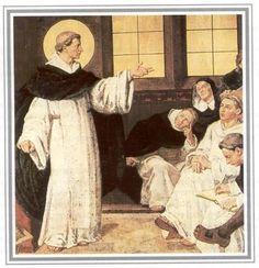Alberto de Grote. Illustratie Duitse heiligenkalender.