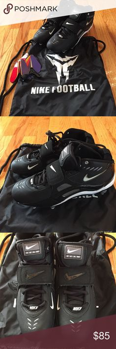 Nike Football Cleats brand new NEVER WORN football cleats - dust bag, Nike swoosh color swatches, and cleat spike wrench included - NWOT Nike Shoes Athletic Shoes