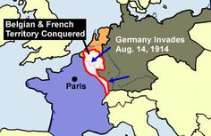 History - Germany Occupation of Belgium 1914 WW1