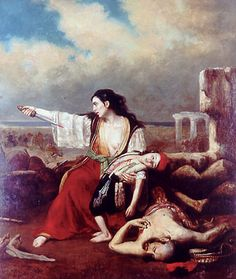 19th October. Theodoros Vryzakis, a Greek painter, was born on this day in 1819. http://brambleart.com/