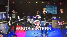 The boys performing on the Howard Stern show