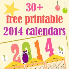 ☞ 40+ free printable 2014 calendars - ausdruckbare Kalender 2014 - links | MeinLilaPark – digital freebies