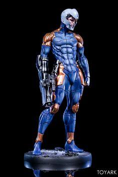 Metal Gear Solid - Cyborg Ninja Scale Statue by Gecco - Toyark Photo Shoot - The Toyark - News Gray Fox Metal Gear, Metal Gear Rex, Raiden Metal Gear, Metal Gear Solid, Alien Concept Art, Armor Concept, Ninja Armor, Cyberpunk, Cyber Ninja