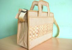 Unique Jute Bag / Messenger Bag / Conference Bag made by JuteSpot, $20.00