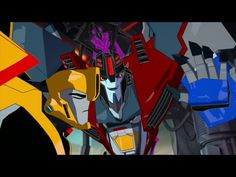 Bumblebee looks so done with Starscream, and he's like idiots, idiots everywhere