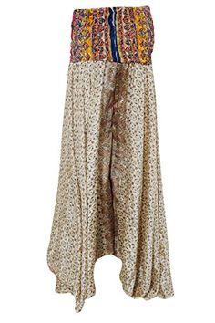 Womens Gypsy Skirt Beige Floral Print Silk Sari Swirling ... https://www.amazon.com/dp/B06VXB8TLK/ref=cm_sw_r_pi_dp_x_acMUybTQ26656 #skirt #bohemian #boho #maxidress #dividedskirt