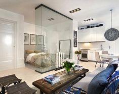 Un appartamento per single. Progetto di Real World Studio.