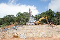 Underconstruction Vihara Dewi Kwan Im Belitung Island, Indonesia