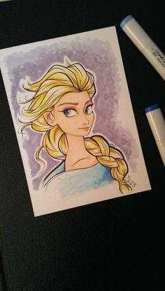 Elsa Frozen Marker Drawing by ShelbyGoelz on Etsy, $22.00