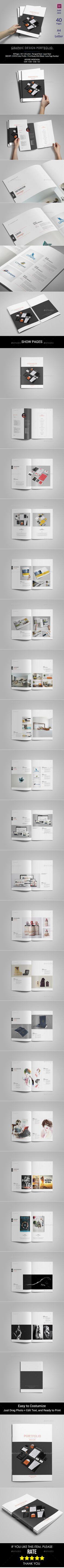 Graphic Design Portfolio Brochure Template PSD #design Download: http://graphicriver.net/item/graphic-design-portfolio-template/13500345?ref=ksioks