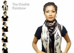25 ways to wear a scarf (video)