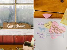 guestbook inspiration - photo by Sara Wilde http://ruffledblog.com/pucks-farm-wedding