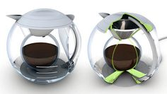 Cocoon Coffee Maker    Designer Jan König went a long way to ensure that your coffee will be heated perfectly even and stay warm longer. The dual sphere design not only looks really cool but serves to distribute heat perfectly as your coffee brews. When it's done the outer bowl acts as an insulator for delicious coffee center. Best Coffee Grinder, Best Coffee Maker, Coffee Center, Coffee Facts, Coffee Subscription, I Love Coffee, Coffee Machine, Coffee Drinks, Coffee Cups