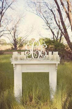 monogram fireplace altar | Desirae Gooding Photography