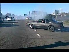 Crazy car stunts.
