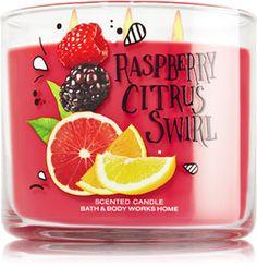 Raspberry Citrus Swirl Candle - Home Fragrance 1037181 - Bath & Body Works Bath Body Works, Bath And Body Works Perfume, Bath N Body, Bath Candles, Scented Candles, Jar Candle, Bath And Bodyworks, Body Care, Watermelon Lemonade