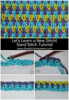 How to crochet the Sand Stitch. Very easy. Love this one, looks great with 3 colors.