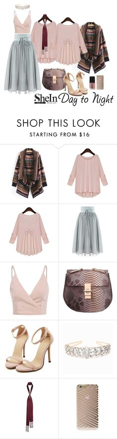 """""""2015aw shein.pink.bow.blouse"""" by vaughnroyal ❤ liked on Polyvore featuring Bebe, River Island, Sonix and Forever 21"""