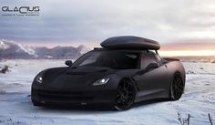 Render: 2014 Corvette Stingray with Roof Box by Glacius Creations.     https://www.facebook.com/pages/Glacius-Creations/216277635083383