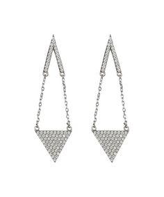 Look at this #zulilyfind! Cubic Zirconia & Sterling Silver Geo Drop Earrings #zulilyfinds